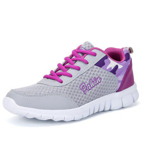 Women'S Sports Shoes Flat Bottom Breathable Running Shoes Large Size - VIOLET RED EU 39