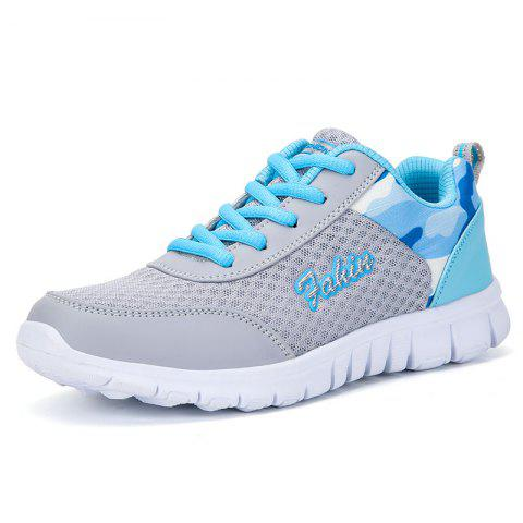 Women'S Sports Shoes Flat Bottom Breathable Running Shoes Large Size - DAY SKY BLUE EU 38