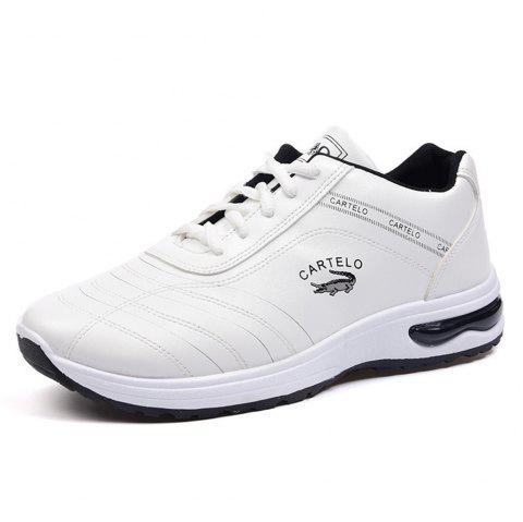 CARTELO Mode Homme Casual Sports Shoes Chaussures de travail - Blanc EU 43