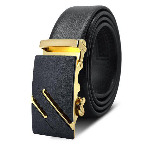 AC003A1007 Men'S Frosted Alloy Automatic Buckle Belt - GOLD