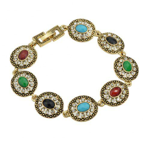 Colorful Round Beads Bracelet - GOLD