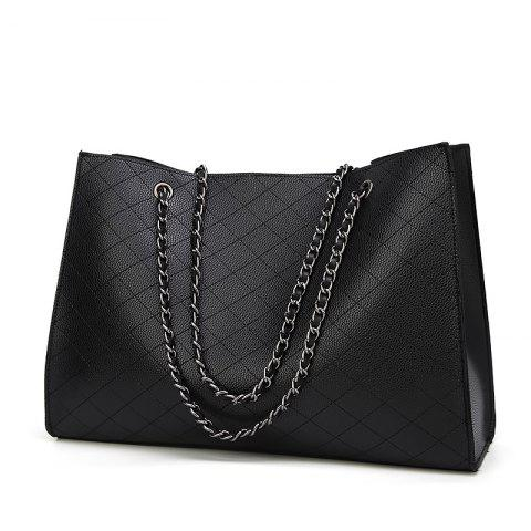 New Fashion Diamond Chain Mother Bag Shoulder Bag/Office/ Career/Daily - BLACK