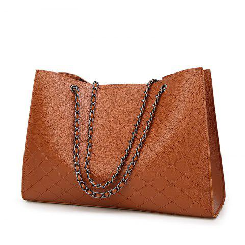 New Fashion Diamond Chain Mother Bag Shoulder Bag/Office/ Career/Daily - BROWN