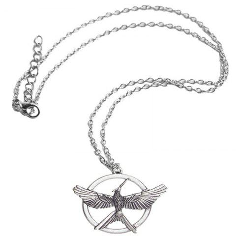 Creative Men's Fashion Mock Bird Necklace - SILVER