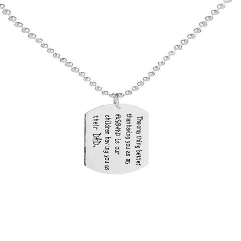 Fashion Simple Men'S Love Dad Necklace - SILVER