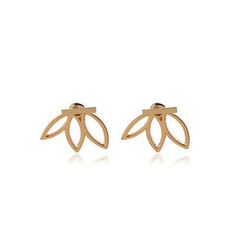 Creative Fashion Lady Lotus Earrings - GOLD