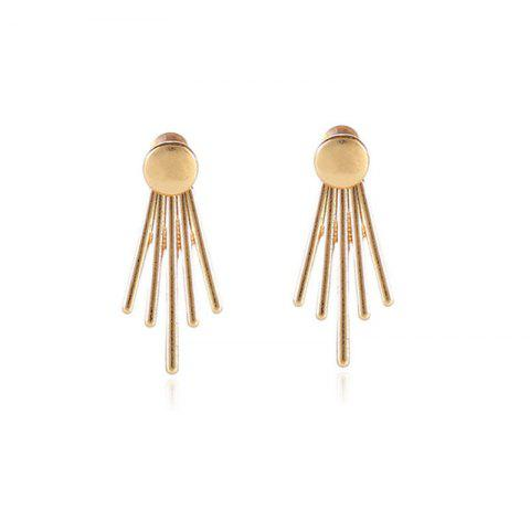 Fashion Fashion Ladies Round Nails Side By Side Vertical Ear Nails - GOLD
