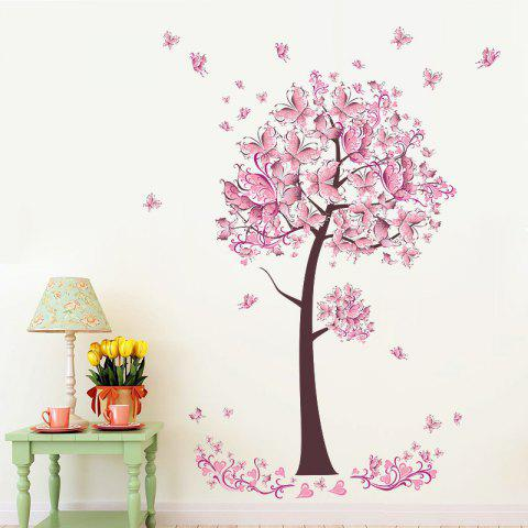 Sticker mural arbre papillon unique - multicolor 60X45CM