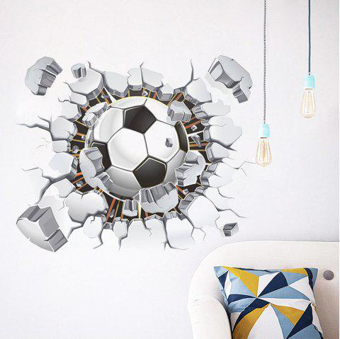 Football Print Removable Wall Sticker - multicolor 50X40CM