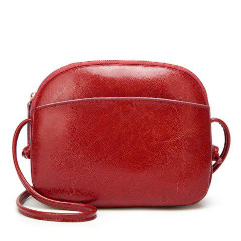 New Fashion Soft Leather Bag Shoulder Diagonal Bag/Winter/Summer/Spring/Fall - RED WINE