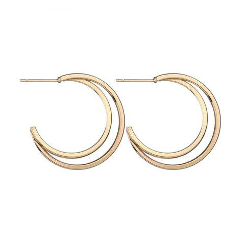 Personality Trend Lady Moon Semi-Circle Ear Nail - GOLD