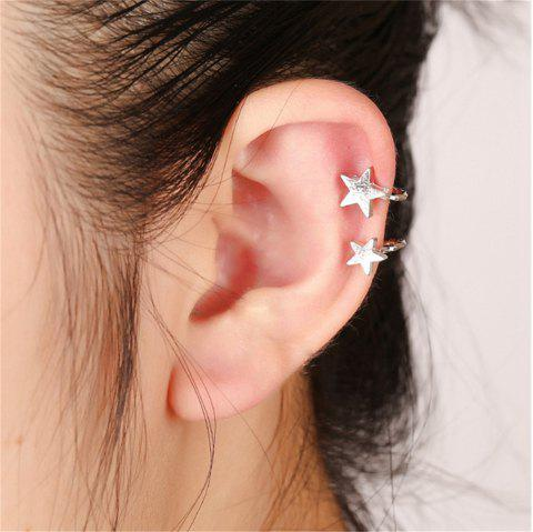 Golden Fashion Lady Starless Earrings - SILVER