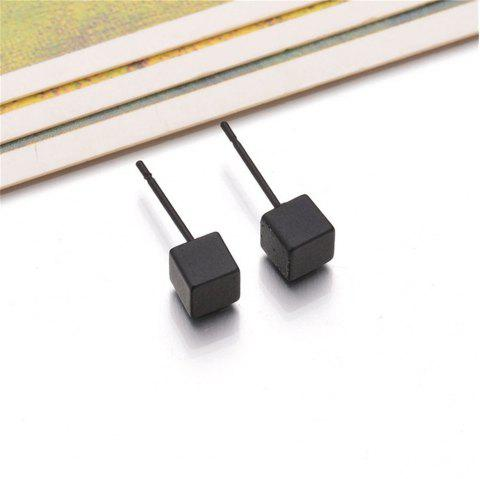 Dames Simple Cube Ear Nails - Noir