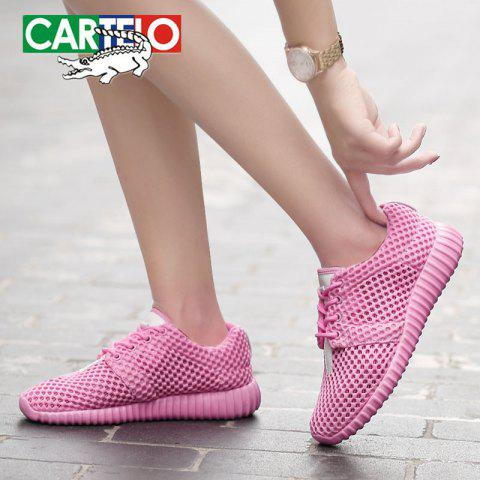 CARTELO Women's Fashion Breathable Casual Shoes - PINK ROSE EU 37