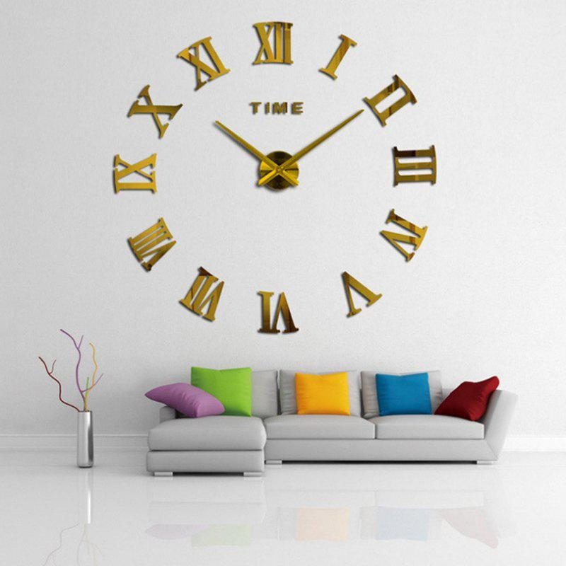 Home Decor DIY Analog Number Wall Clock Home Decor DIY Analog Number Wall Clo - GOLD 100X100CM
