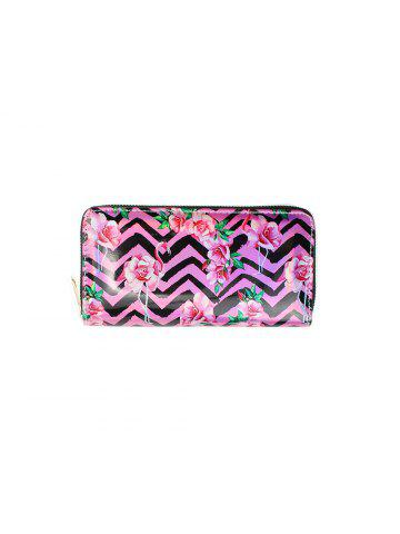28af65007bbfb Women s Wallet Brief Style Flamingo Strip Printing PU Leather Laby Purse