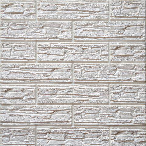 PE simulation culture stone foam wallpaper 3D stereo wall stickers waterproof - WHITE 60*60*1CM