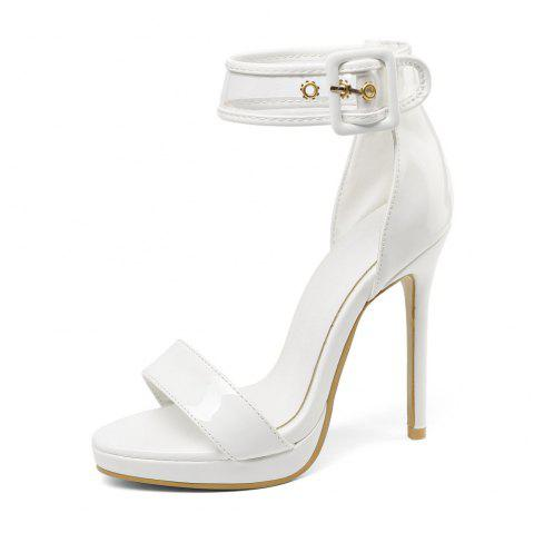 12 Cm High Wedding Sandals with Open Toe - MILK WHITE EU 48