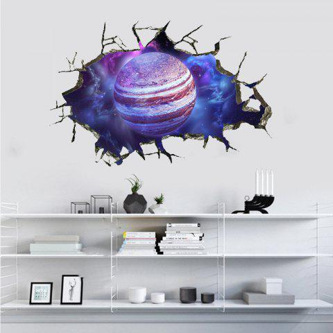 Jupiter Pattern Removable Waterproof PVC Wall Sticker for Home Decoration - multicolor 60X40CM
