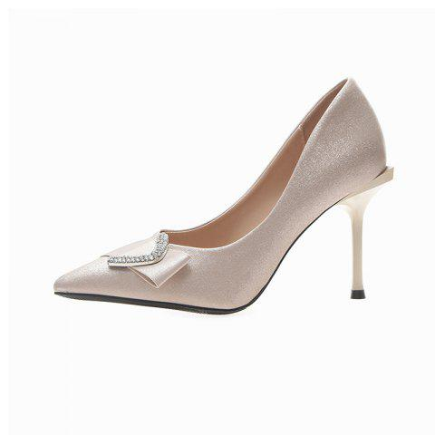 New Style Pointed High Heel Shoes - BEIGE EU 38