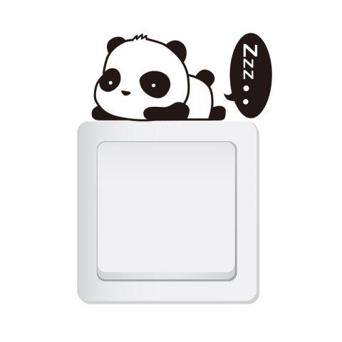 Cute Funny Animal Light Switch Sticker Removable PVC Wall Sticker - multicolor A 14.5X8CM