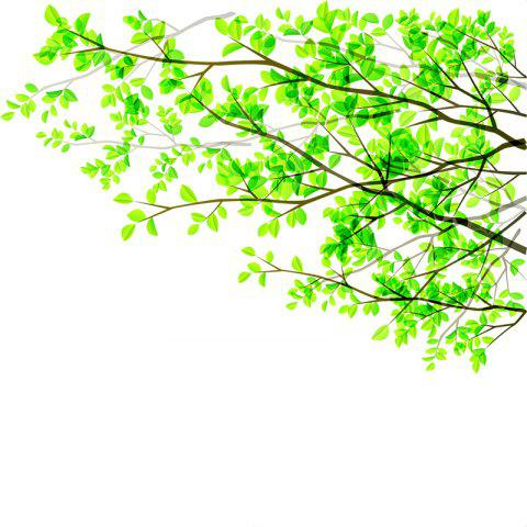 Green Branches PVC Window Film Wall Sticker Matte - multicolor 60X58CM