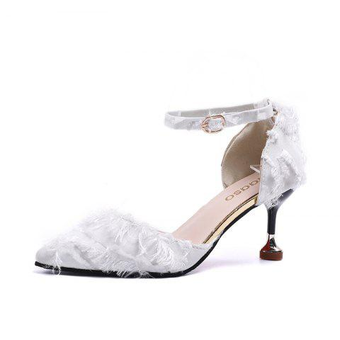 2f7cae0c0a3 2019 High Heels with Comfortable Heels In WHITE EU 39