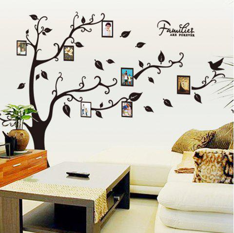 DIY Decal Photo Tree Frame Wall Sticker for Family Decoration - multicolor A 60 X 90 CM
