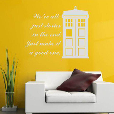We Are All Just Stories in The End Quote Vinyl Decal Wall Sticker House Patterm - WHITE 58 X 70 CM