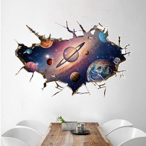 3D Space Planet Removable Wall Sticker The Planet Art Living Room Decorative - multicolor 60 X 90 CM