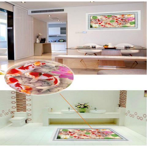 3D Fish Wall Sticker Removable PVC Full Color Decal Waterproof wholesale murals - multicolor 60 X 90 CM