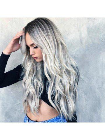 Women S Long Hair Black Gradual Gray Popular Wig a4ecded4b