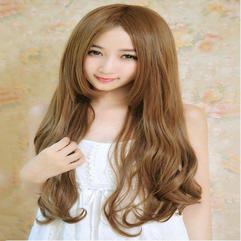 Fashion Fluffy New Long Curly Wig - BROWN 1PC