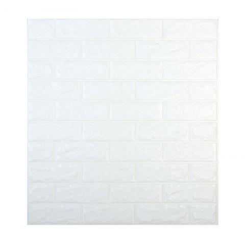 Self-adhesive wallpaper new brick pattern 3d wall stickers Thickness 8mm - COOL WHITE 70*77*0.8CM