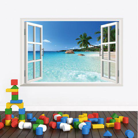 3D Hawaiian Style Living Room Bedroom Background TV Background Wall Sticker - multicolor 24 X 36 INCH