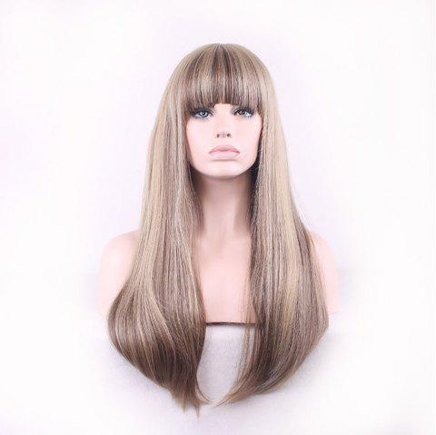 Fashion New Multicolor Mixed Spell Long Hair Wig - CHAMPAGNE GOLD 1PC
