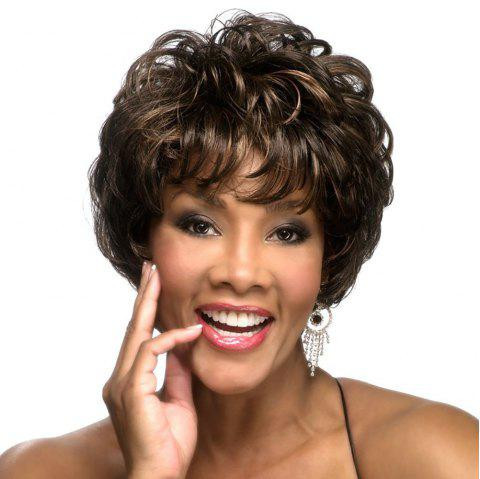 Fashionable New Chemical Fiber Bouffant Short Curly Wig - DEEP COFFEE 1PC