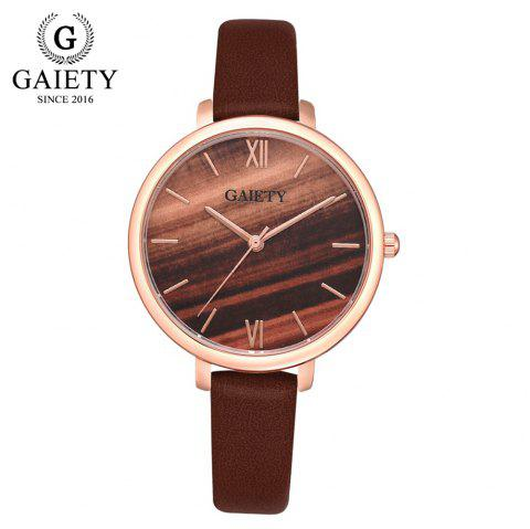 GAIETY G575 Women'S Watch Multi-Color Large Dial PU with Quartz Watch - multicolor C