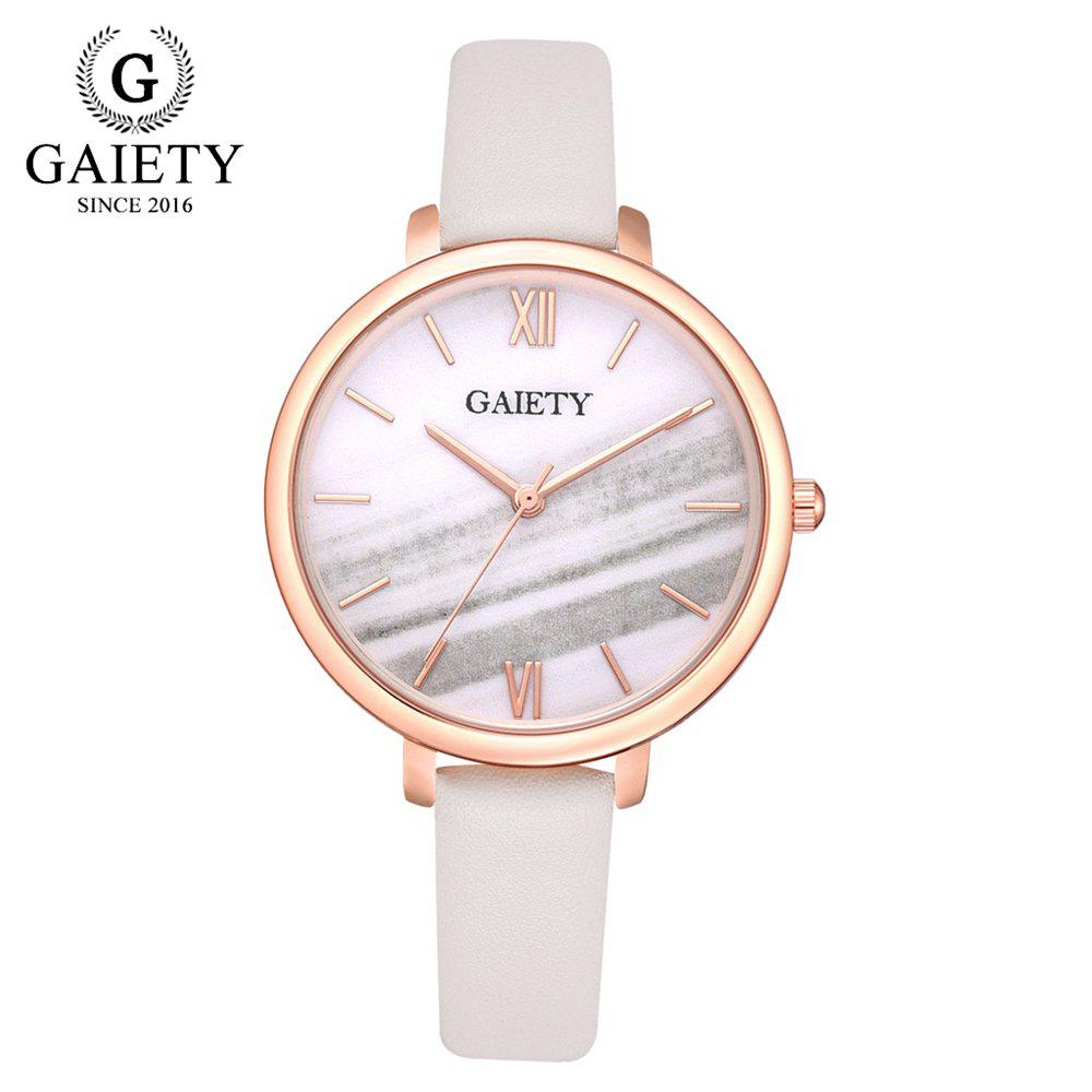 GAIETY G575 Women'S Watch Multi-Color Large Dial PU with Quartz Watch - multicolor E