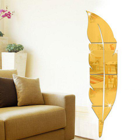 Shapes 3D Mirror Wall Stickers For Home Decoration - GOLD 73X18CM