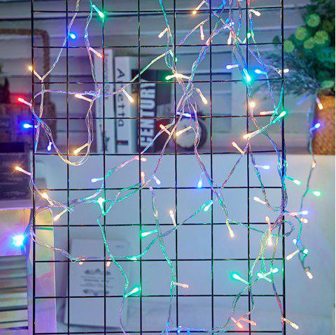 LED Lantern Festival Decoration Wall Lamp String 10 Meter 100 Light - multicolor EU PLUG