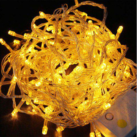LED Lantern Festival Decoration Wall Lamp String 10 Meter 100 Light - GOLDEN BROWN EU PLUG