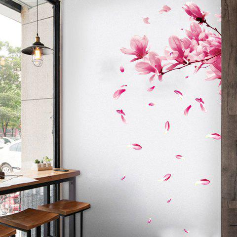 Peach Blossom Removable Waterproof PVC Wall Sticker for Home - multicolor 16 X 24 INCH