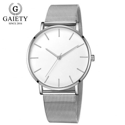 GAIETY G581 Women'S Watch Simple Ultra-Thin Large Dial Mesh with Quartz Watch - multicolor H