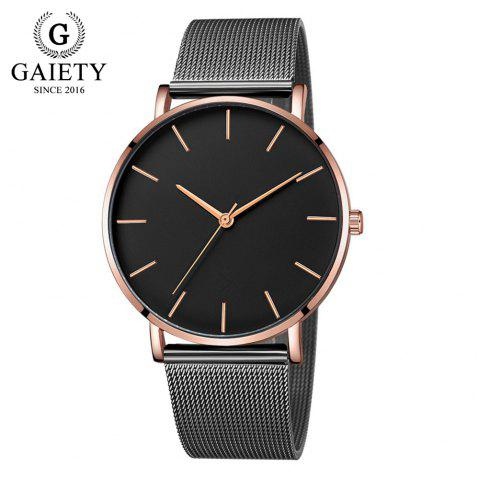 GAIETY G581 Women'S Watch Simple Ultra-Thin Large Dial Mesh with Quartz Watch - multicolor B