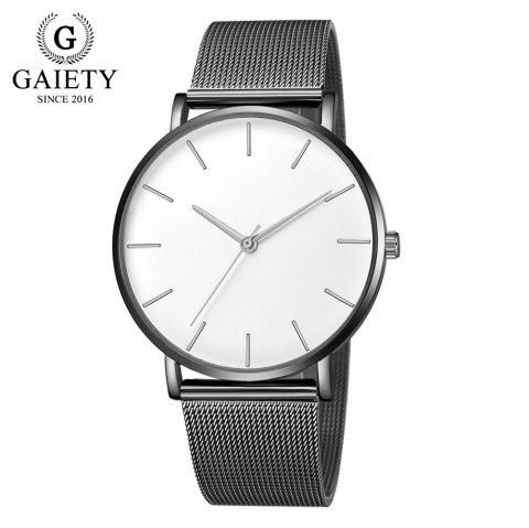 GAIETY G581 Women'S Watch Simple Ultra-Thin Large Dial Mesh with Quartz Watch - multicolor A