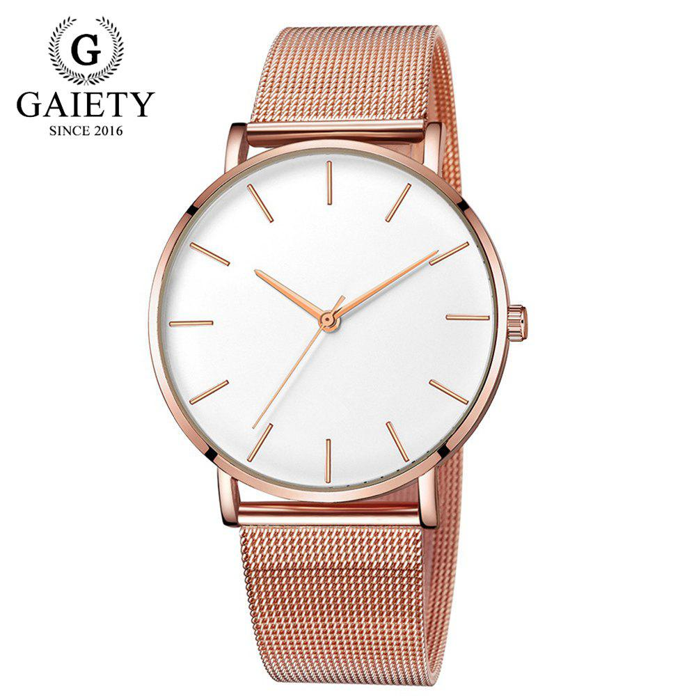 GAIETY G581 Women'S Watch Simple Ultra-Thin Large Dial Mesh with Quartz Watch -