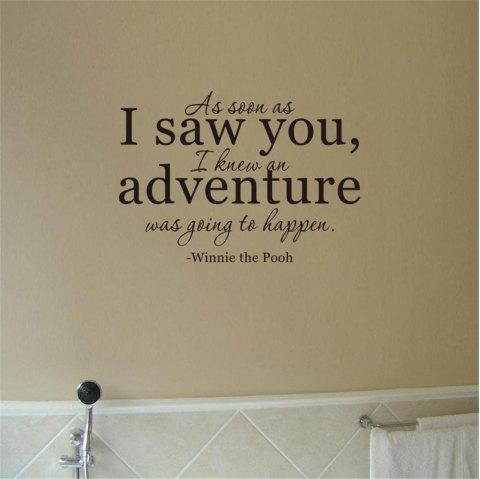 As Soon As I Saw You Art Apothegm Home Decal Wall Sticker - BLACK 40.5*57CM