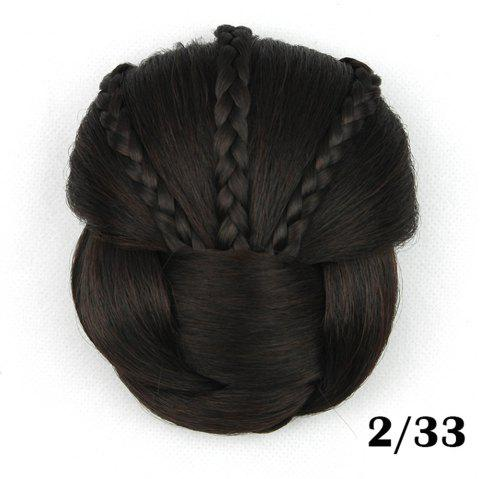 Hair Bag high Temperature Wire braided Hair hairpin professional Wig - BLACK REGULAR