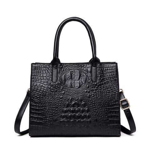 Beauty Bird 2019 Ladies Handbag Embossed Fashion Large épaule Capacité Messeng - Noir 1PC